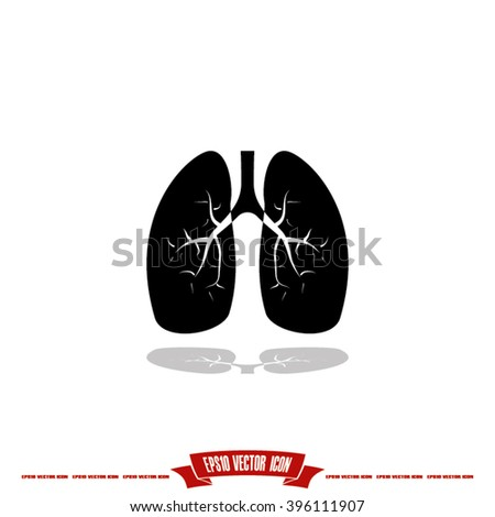 Lungs Icon Vector.
