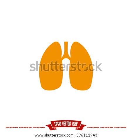 Lungs icon vector illustration eps10.