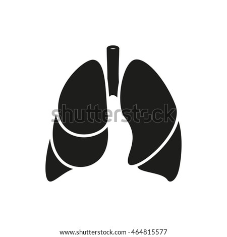 Lungs - vector icon on white background Created For Mobile, Infographics, Web, Decor, Print Products, Applications. Icon isolated. Vector illustration.