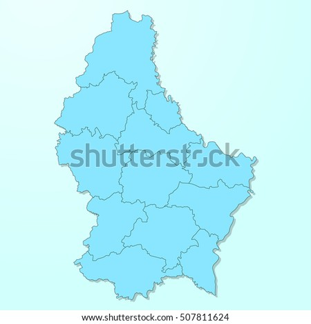 Luxembourg Map Stock Images RoyaltyFree Images Vectors - Luxembourg map vector