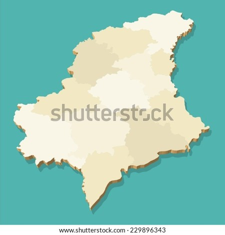 Luxembourg Map Vector Three Dimensional Stock Vector - Luxembourg map vector