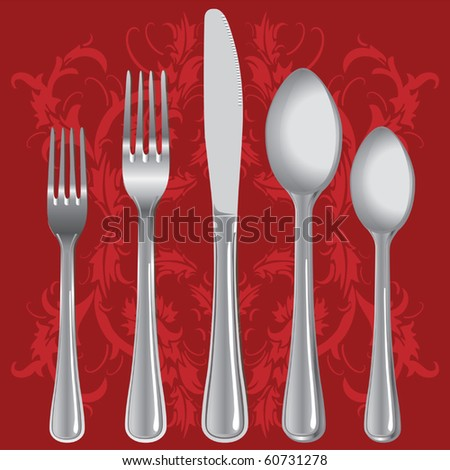 Luxurious dinner setting vector - stock vector