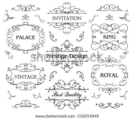 Luxurious Royal Logo Vector Design Template Suitable For Businesses and Product Names, Luxury industry like hotel, wedding, restaurant and real estate. Swirl badges, frames
