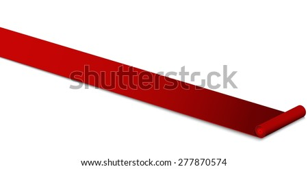luxury a red carpet - stock vector