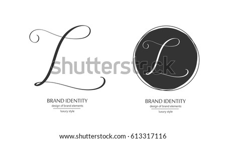 Calligraphy L Letter In A Circle
