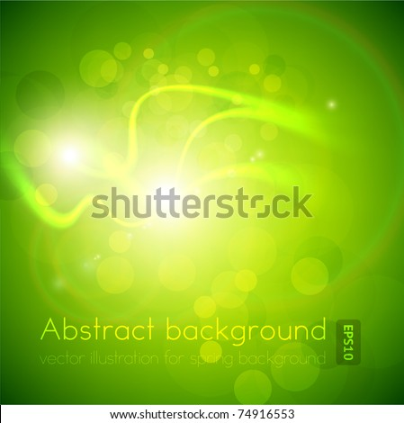 Luxury bright green abstract greeting card. Vector spring background for summer design. Eps10.