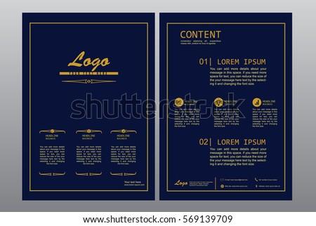 Luxury Brochure Design Template Vector Blue Stock Vector 569139709