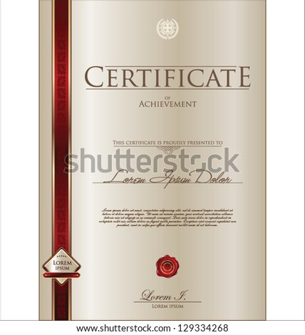 Certificate design stock photos illustrations and vector art