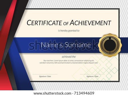 Luxury certificate template elegant border frame stock vector luxury certificate template with elegant border frame diploma design for graduation or completion yelopaper Image collections