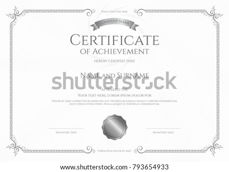 Affixed stock images royalty free images vectors shutterstock luxury certificate template with elegant border frame diploma design for graduation or completion yelopaper Gallery