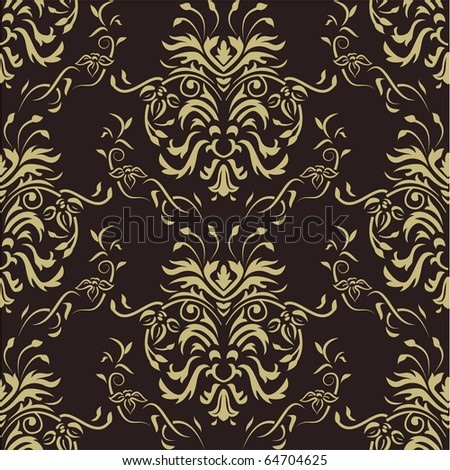 Luxury damask wallpaper. Seamless - stock vector