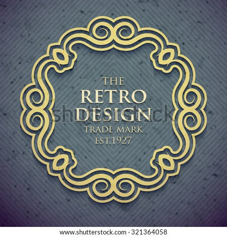 Luxury design frame in old retro style. Vector illustration  - stock vector