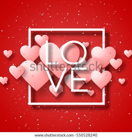 Decorative Greeting Card Valentines Day Pink Stock Vector ...