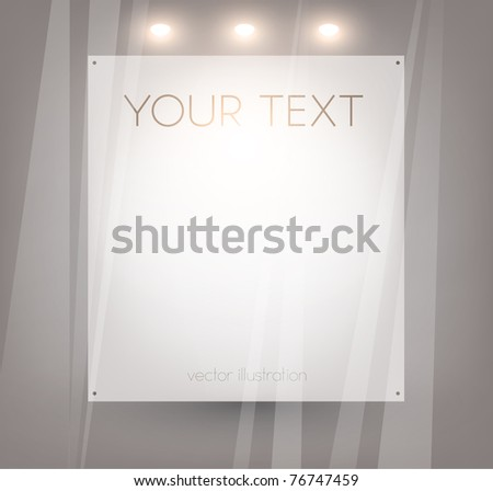 Luxury Empty storefront. You can change colors for the background, eps10 vector