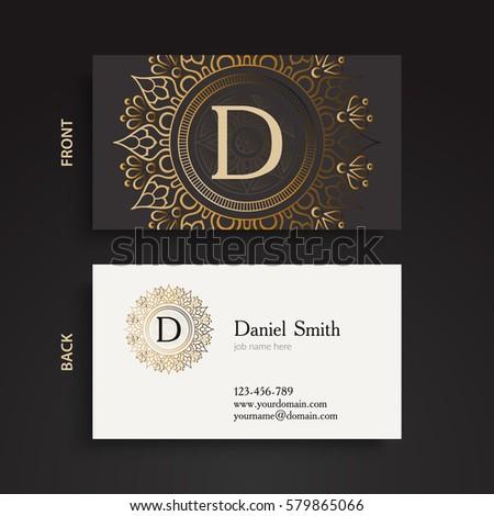 Luxury gold monogram business card vintage stock vector royalty luxury gold monogram business card vintage decorative elements ornamental floral oriental pattern colourmoves