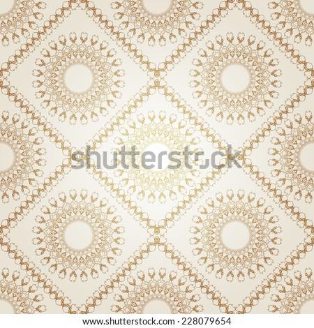 Luxury gold Victorian seamless motif. - stock vector