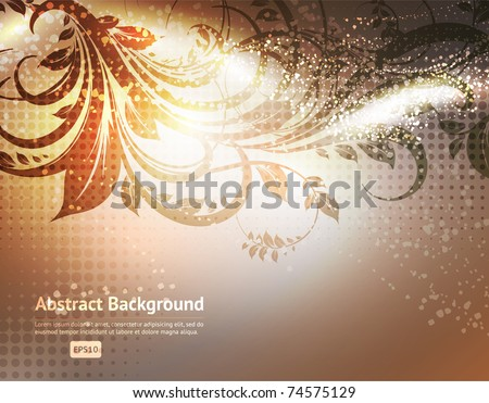 Luxury greeting spring card. Floral ornament with flower for summer design. Eps 10. - stock vector
