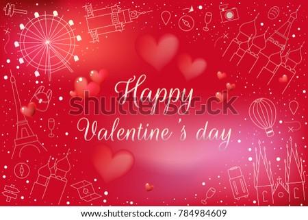 Luxury Happy Valentines Day Theme Rose Stock Vector 784984609 ...