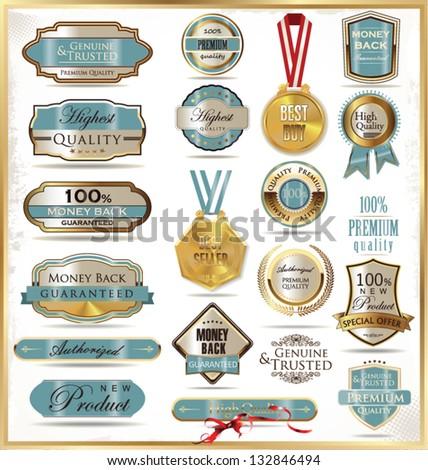 Luxury labels - stock vector
