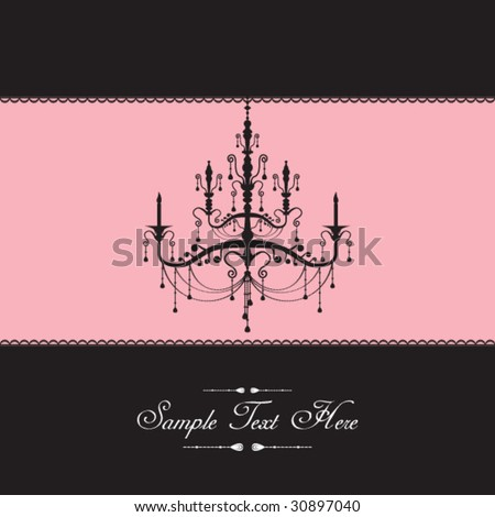 Luxury lamp template cover - stock vector