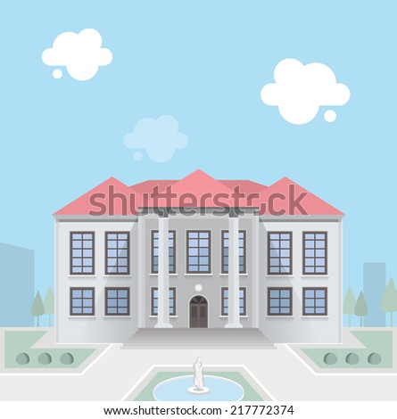 Luxury mansion. EPS10. - stock vector