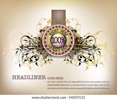 luxury medal - stock vector