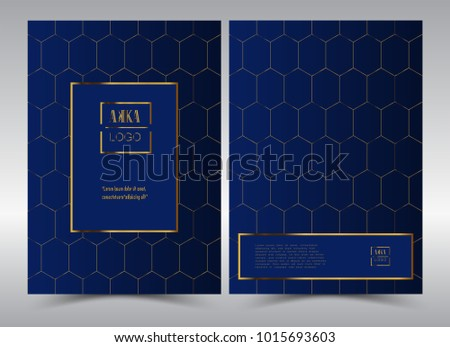 Luxury Premium Menu Design Product Cover Package Stock Vector