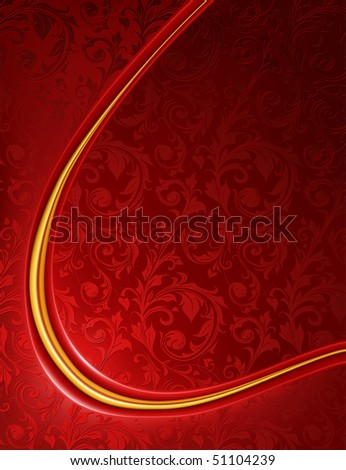 Luxury red Background, vector