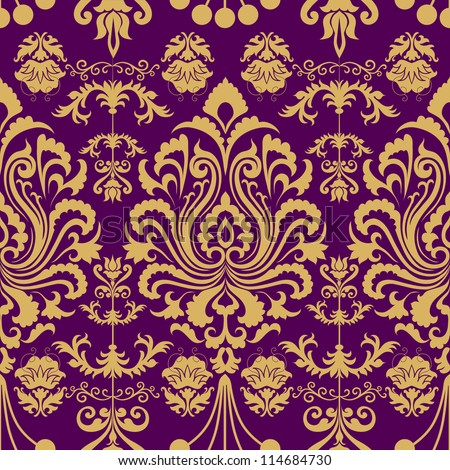 Luxury seamless decorative floral pattern Eps 8 - stock vector