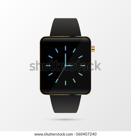 Luxury smart watch. Modern design. Vector illustration. - stock vector