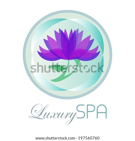 Luxury spa background design. - stock vector