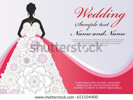 luxury template wedding poster greeting card stock vector royalty