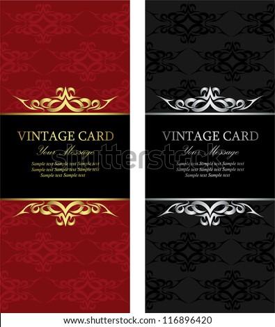 Luxury vintage cards - stock vector