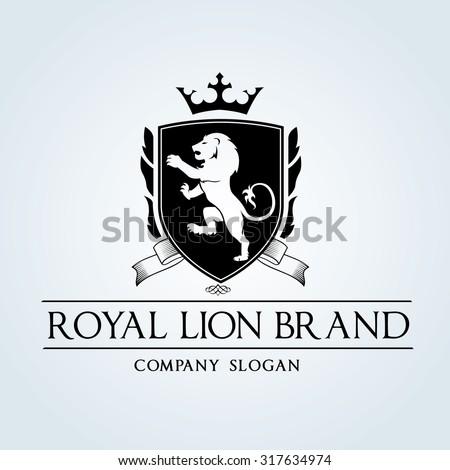 Luxury Vintage, Crests logo,Crest. Business sign,lion logo,Restaurant logo, Royalty Brand, Boutique, Hotel, Heraldic,education, Fashion ,Real estate,Resort,King, vintage, property,Vector logo template - stock vector