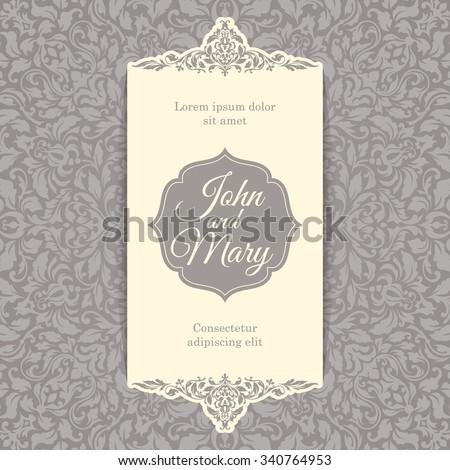 Luxury Vintage Invitation Card Template Ornate Stock Vector ...