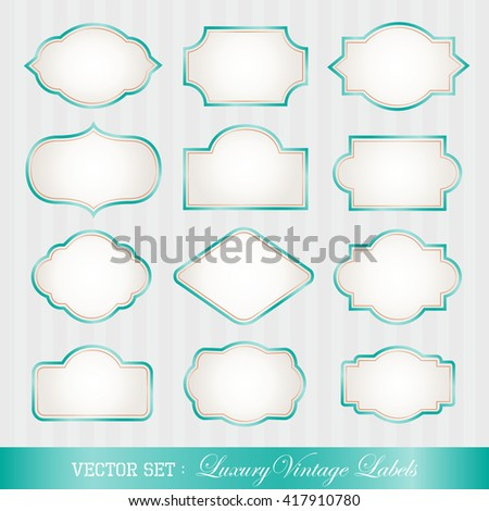 Luxury vintage style frames. - stock vector