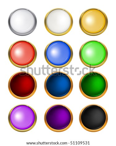 Luxury web buttons, vector