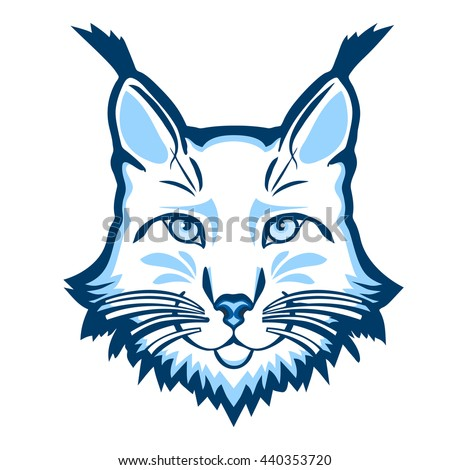 Lynx mascot logo. Head of lynx isolated vector illustration. - stock vector