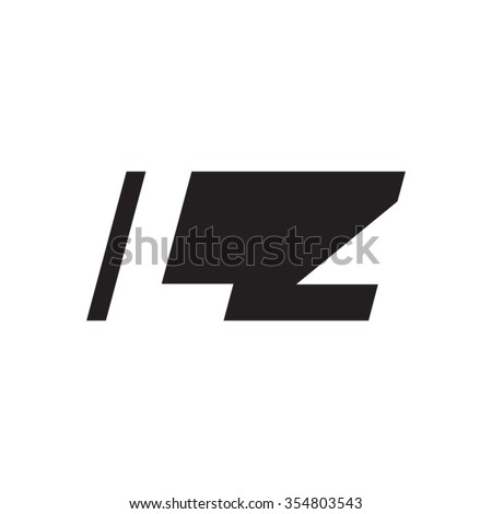 LZ negative space letter logo