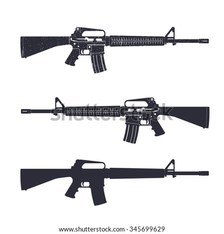 how to draw a m16