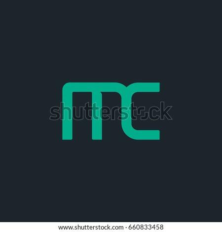 e m letter logo design vector stock vector 580583176 shutterstock