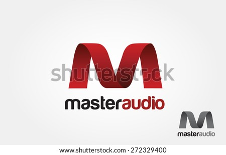 M Letter logo Abstract wave design for Corporate Business Identity - stock vector