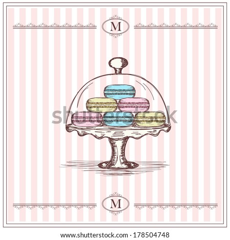 Macaroons - stock vector