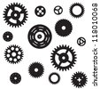 Machine Gear Wheel Cogwheel seamless pattern. Vector illustration. EPS 10 - stock photo