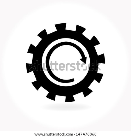 Machine Gear Wheel symbol vector - stock vector