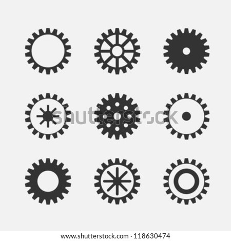 Machine Gear Wheels - stock vector