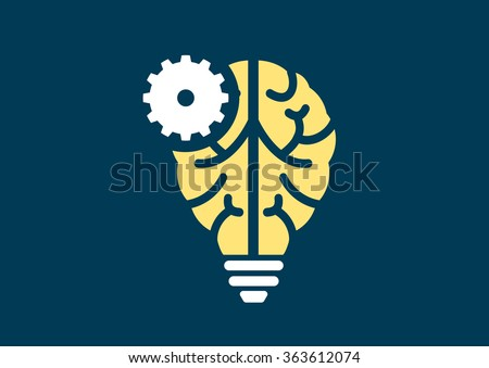 Machine learning and artificial intelligence concept vector illustration - stock vector