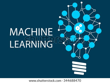 Machine learning concept. Innovative new technology - stock vector