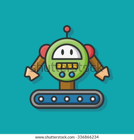 machine robot icon vector