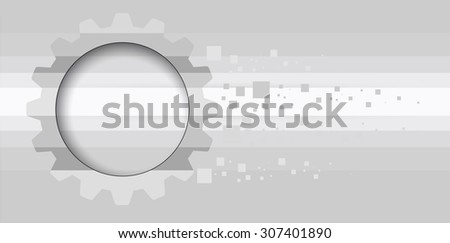 machine technology gears. retro gearwheel mechanism abstract background - stock vector
